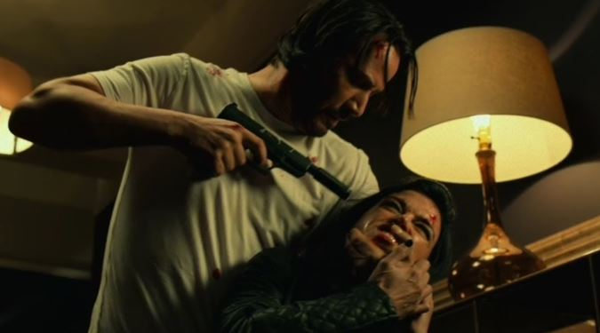 Stunts by Keanu Reeves in John Wick