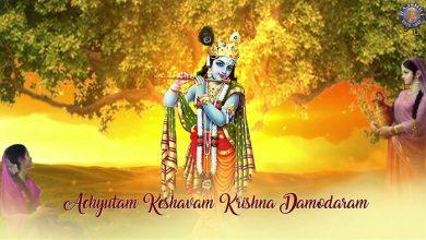 achyutam keshavam krishna damodaram mp3 download