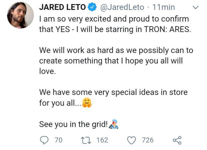 Disney's Tron 3 With Jared Leto