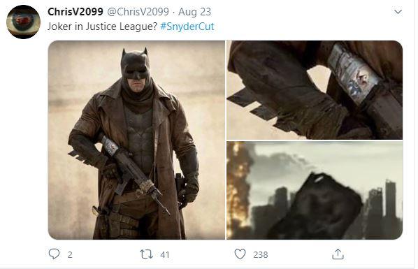 Justice League Snyder Cut Joker Easter Egg