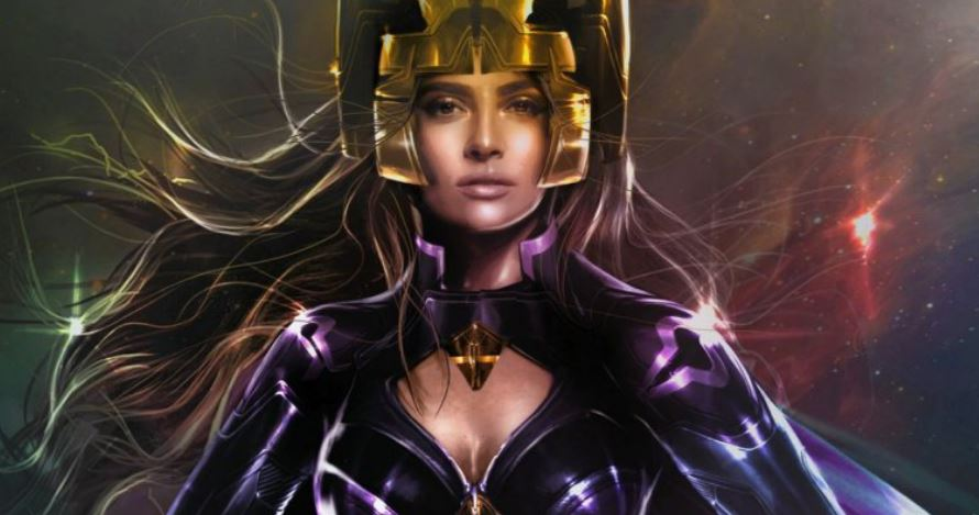 A Detailed Look at Salma Hayek's Ajak Suit in Eternals