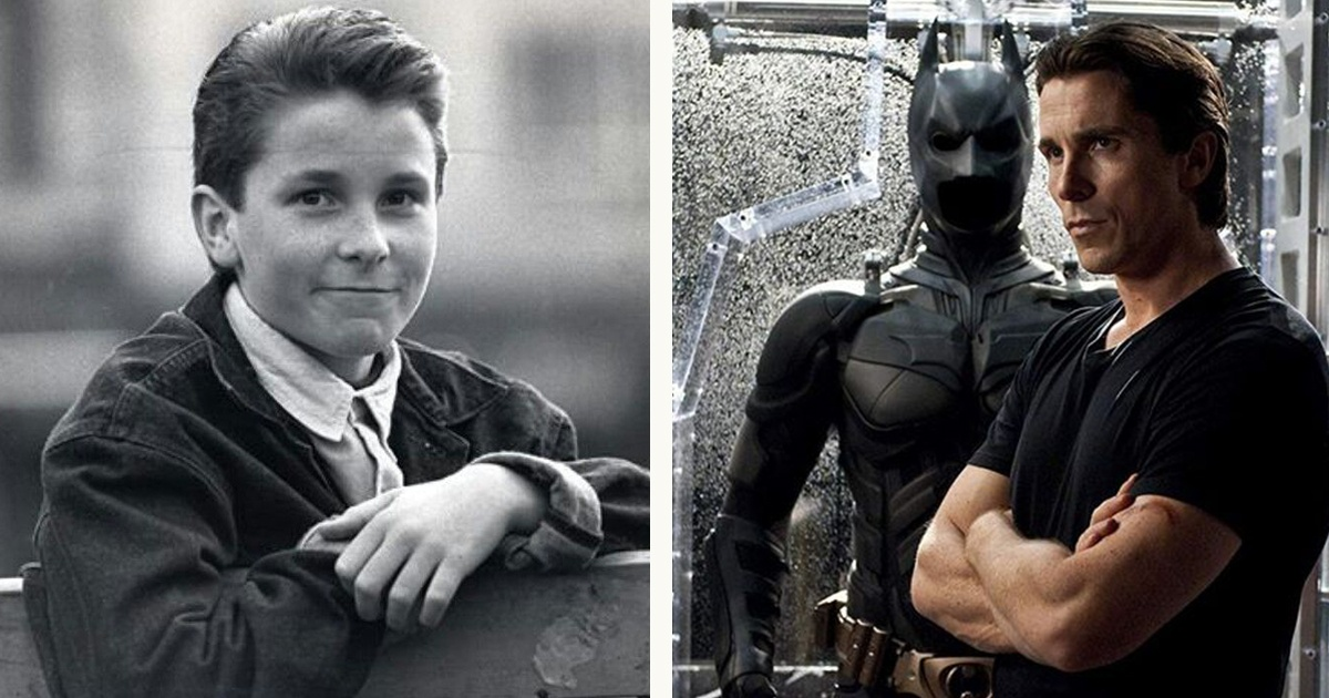 Christian Bale in teenage vs in The Dark Knight