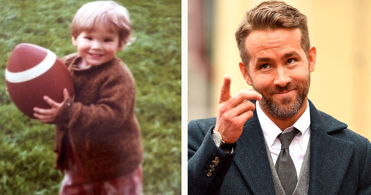Ryan Reynolds as child vs now