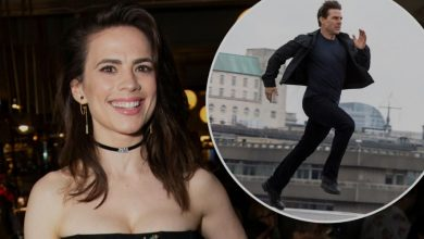 Hayley Atwell & Tom Cruise Film Stunt on Top of a Train in Mission: Impossible 7