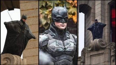Photo of The Batman – New Set Photos Show Batman Jumping Off a Rooftop in a Flying Suit