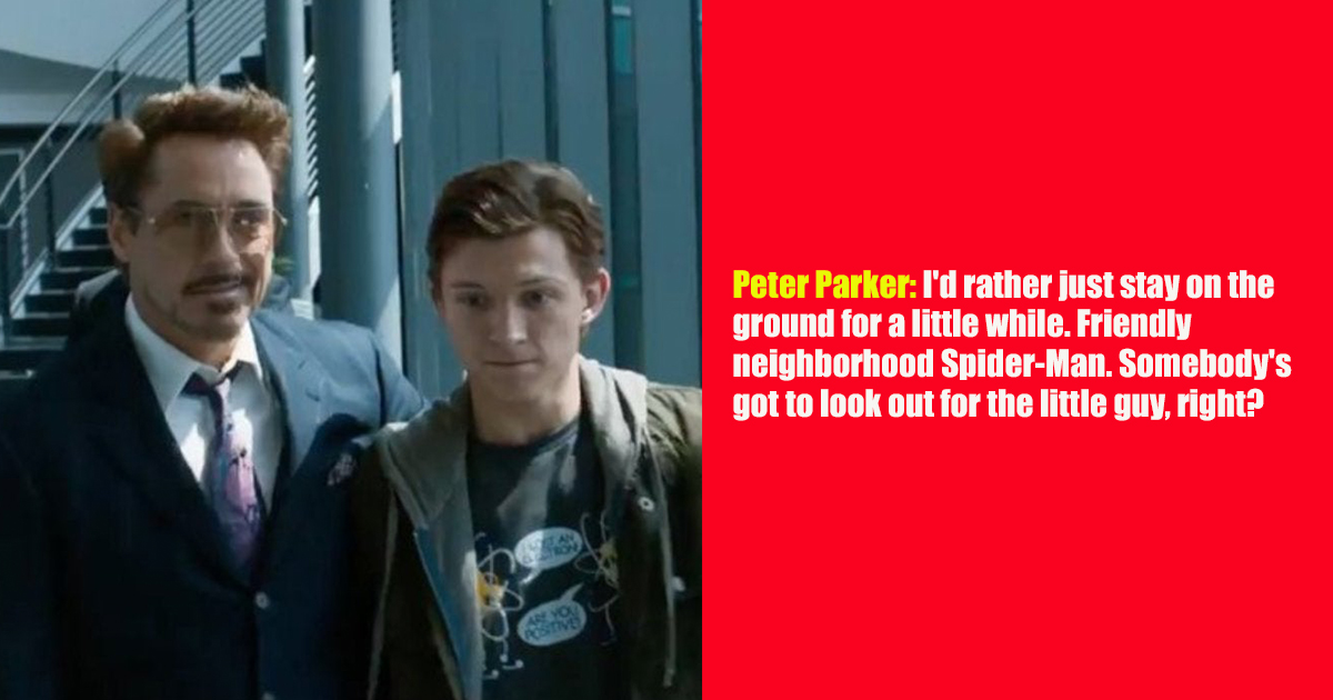 Best Ever Things Said By Peter Parker