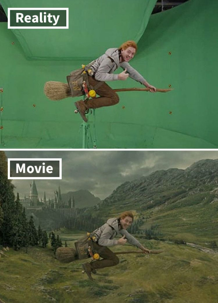 Unseen Harry Potter Movie Shots Before And After Special Effects