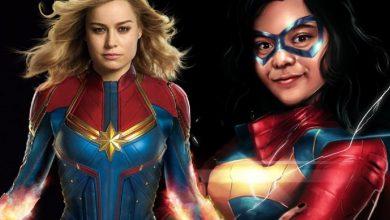 Photo of Ms. Marvel Set Photos Reveal Kamala Khan in a Captain Marvel Costume