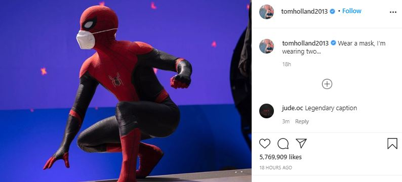 First Look at Spider-Man's New Mask