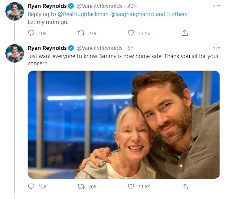 Ryan Reynolds' Mom Jackman's Side