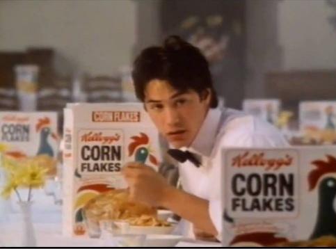 Keanu Reeves Kellogg's ad