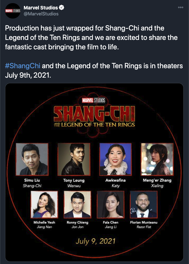 Shang-Chi and the Legend of Ten Rings' Main Cast