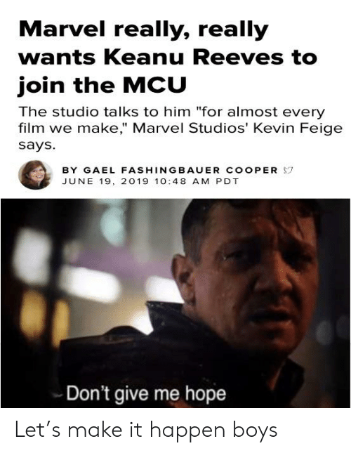 Fans Want Keanu Reeves In The MCU