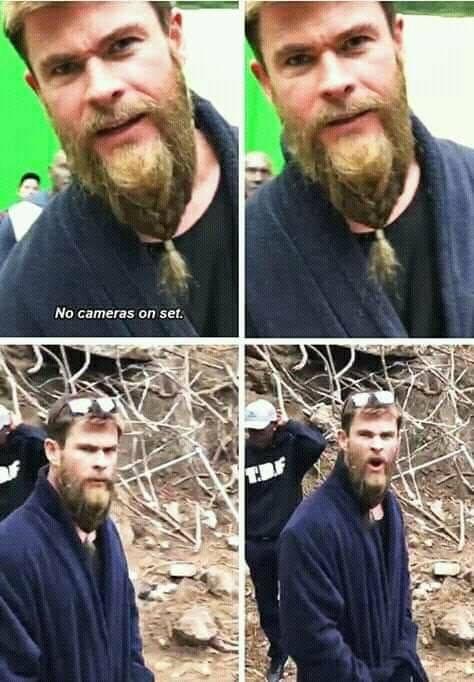 Chris Hemsworth being funny!