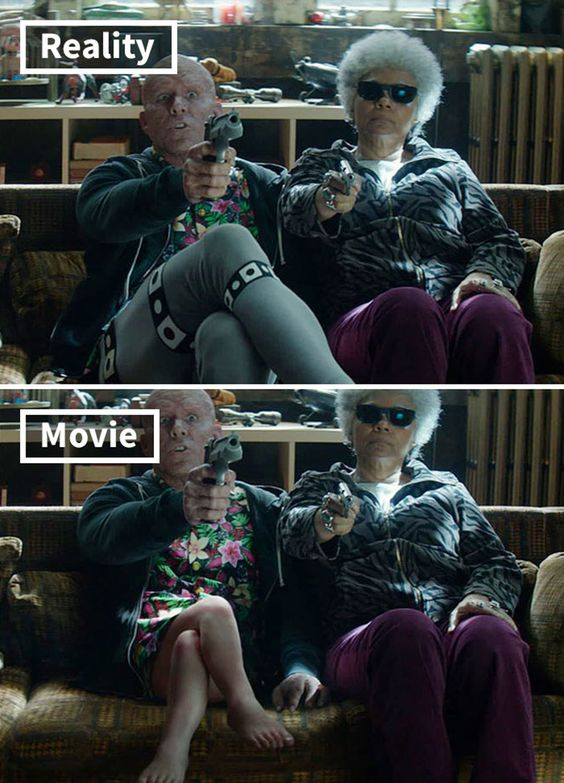 Famous Movie Shots With And Without Special Effects