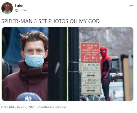Tom Holland in new suit