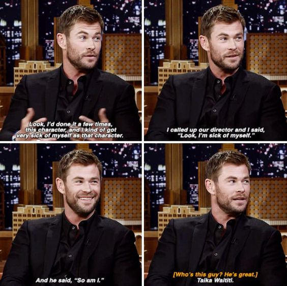 Chris Hemsworth being funny!