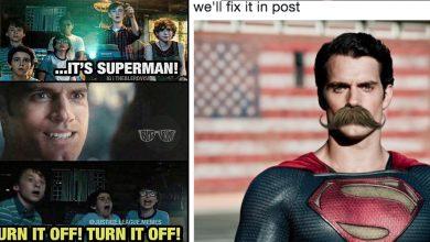 Trolled Superman CGI Mustache