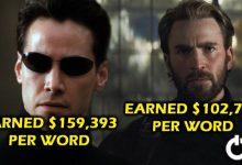 Actors Biggest Salary Per Word
