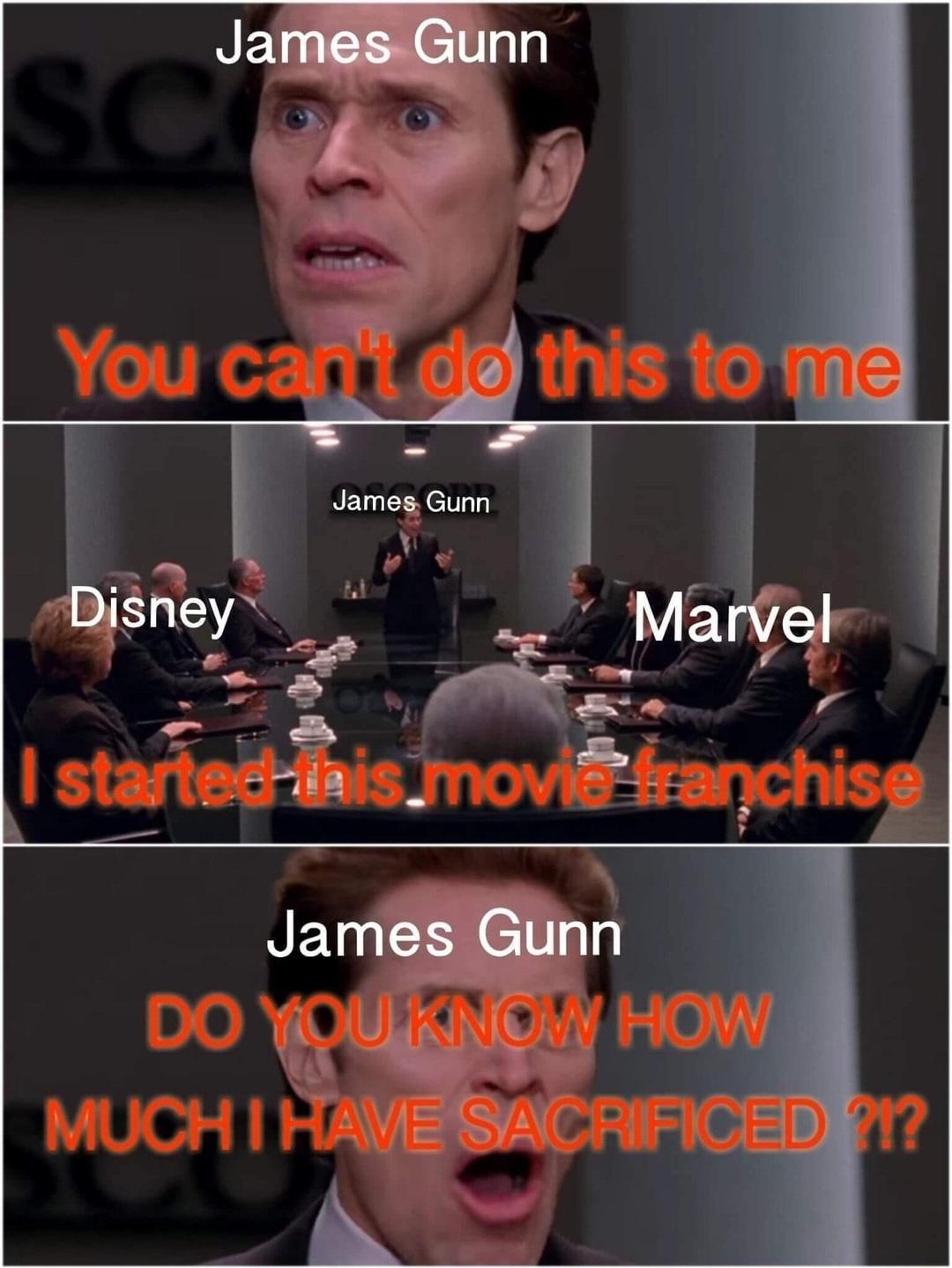 James Gunn's Sacrifice